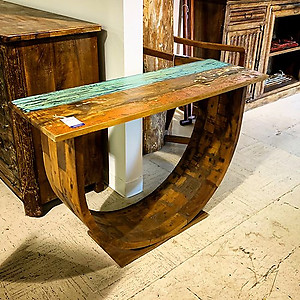 SOLD! Boatwood Console Table