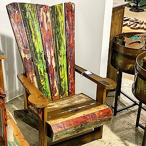 SOLD! Boatwood Teak Lounge Chair