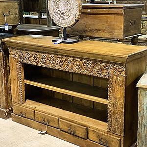 Sold! Carved Open Sideboard Bookshelf