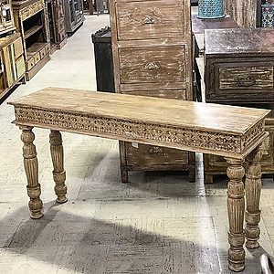 Sold Carved Wood Console Table