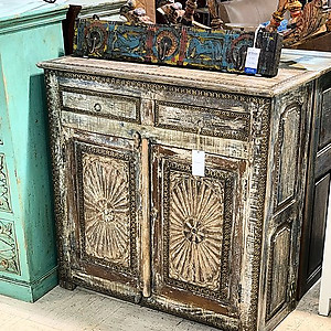 Sold! Brass Trimmed Cabinet