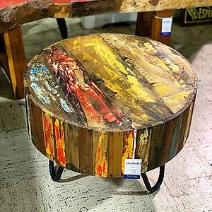 Boatwood Round Side Table