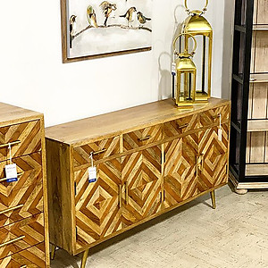 SOLD! Mosaic Wood Sideboard
