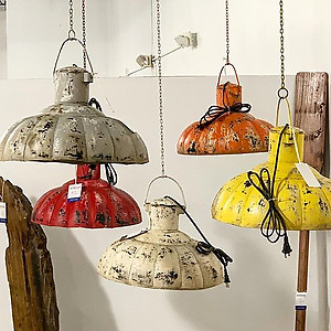Rustic Iron Hanging Lamps