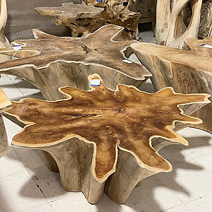SOLD Teak Root Star Coffee Table