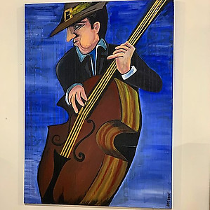 Strumming Original Acrylic on Canvas