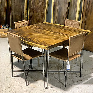 Live Edge Square Dining Table