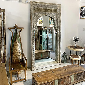 Sold! Oversized old door archway mirror