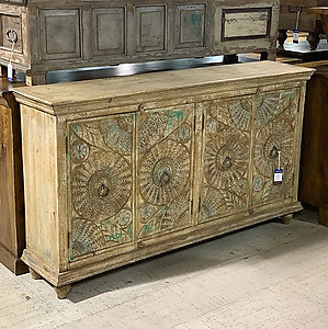 Sold Carved Wood Sideboard