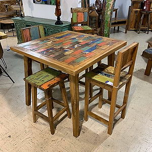 Boatwood Teak Counter High Table
