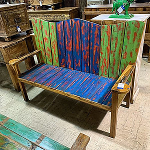 SOLD! Boatwood Outdoor Butterfly Bench