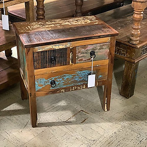 SOLD! Rustic Wood Nightstand