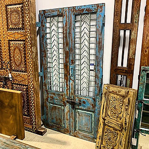 Reclaimed Wood and Iron Door