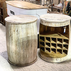 Barrel Wine Table