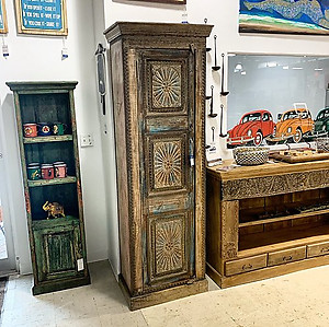 SOLD! Reclaimed Wood Single Door Cabinet