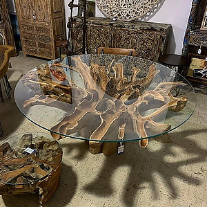 SOLD! Teak Root Table