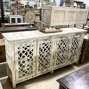 Distressed Wood Sideboard