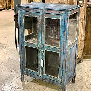 SOLD! Blue Display Storage Cabinet