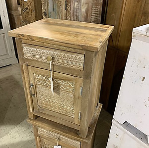 Tribal Wood Nightstand
