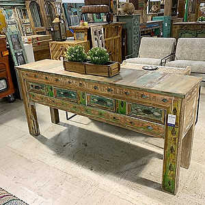 SOLD! Boho Style Console Table