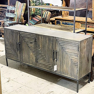 Sold! Contemporary Gray Sideboard