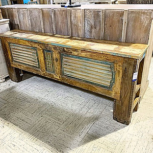 Sold! Carved Wood Console Table
