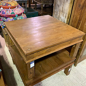 Teak Wood Square Coffee Table