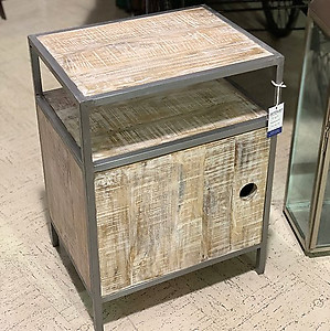 Industrial Wood Nightstand