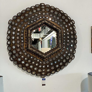 Peacock Wood Mirror