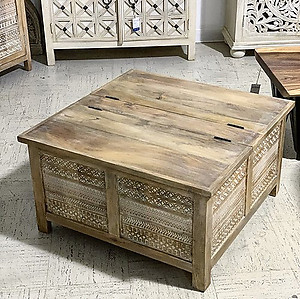 Sold! Tribal Wood Coffee Table Trunk