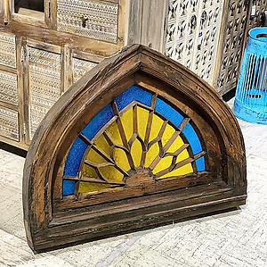 SOLD! Arched Window Wall Decor