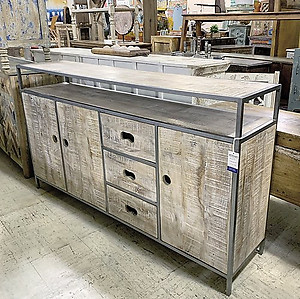 Industrial Wood Sideboard
