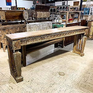 Sold! Carved Console Table