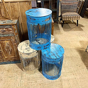 SOLD! Painted Metal Side Table