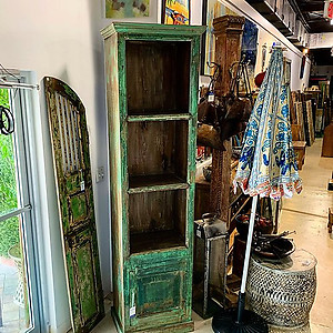 SOLD! Green Tall Bookshelf