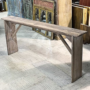 Narrow Wood Console Table