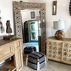 Sold! Carved Wood Mirror