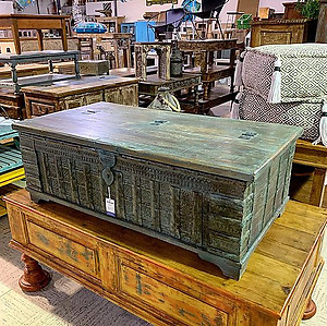 SOLD! Blue Coffee Table Trunk