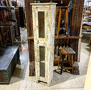 SOLD! Painted Wood Narrow Cabinet