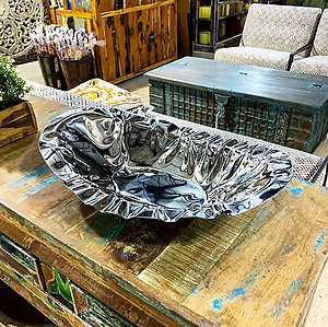 Steel Steel Serving Bowl