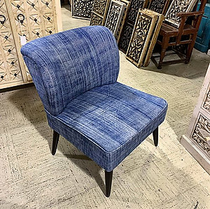 Denim Low Accent Chair