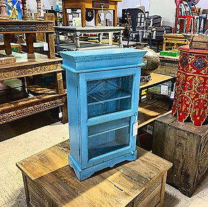 SOLD! Blue Wall Cabinet