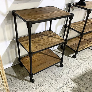 Small Teak and Iron Shelf