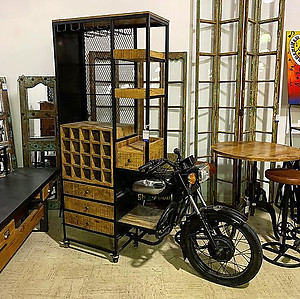 SOLD! Motorcycle Bar Counter