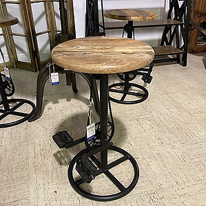 Sold! Iron and Wood Cycle Stool