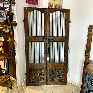 SOLD! Reclaimed Wood And Iron Door