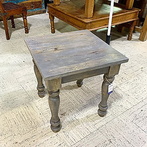 Gray Wood Side Table