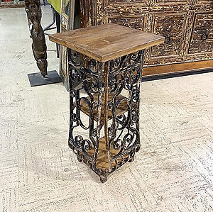 SOLD! Iron and Wood Side Table