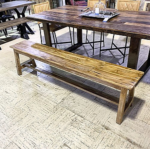 SOLD! Solid Wood Bench