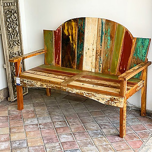 Outdoor Boatwood Bench